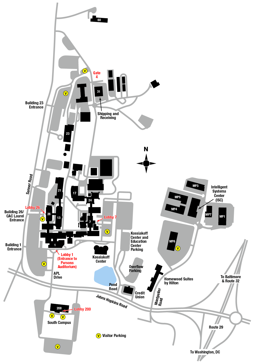 Jhh Campus Map.Visitor Information