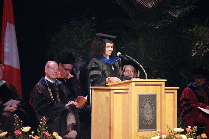 "The year after graduating with her Ph.D. in nuclear engineering from the University of Tennessee, Porter was asked to speak at the school's hooding ceremony, a moment she said ""resonated with a lot of people."""