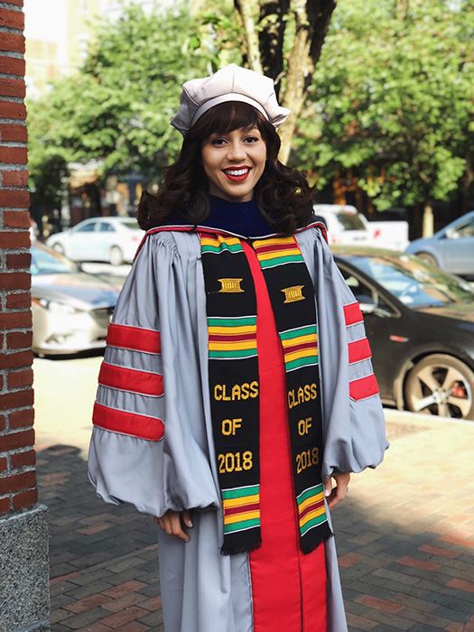 "After Mareena Robinson Snowden became the first black woman to earn a Ph.D. in nuclear engineering from MIT, she posted this graduation photo on Instagram and wrote: ""When they ask where the skilled black female technical minds are, know there are many."""