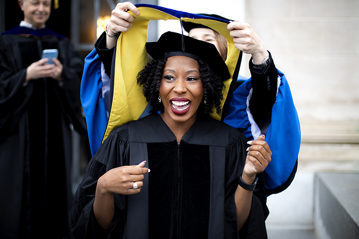 "Sivels, who felt fortunate to go through her Ph.D. program at Michigan with two other black women coming behind her, is now an American Association for the Advancement of Science IF/THEN Ambassador. ""People don't know these stories, and if you don't tell them, they'll never know,"" she says."