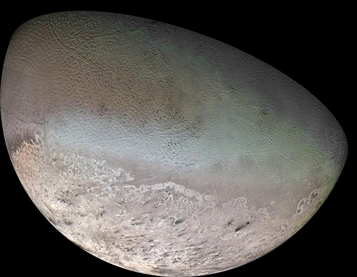 Image of Global color mosaic of Neptune's moon Triton
