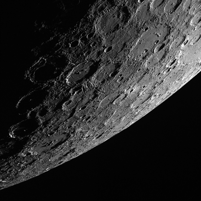 Image of Mercury's surface, as captured here in 2013 by the  APL-operated MESSENGER spacecraft