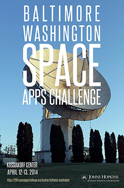 Baltimore Washington Space Apps Challenge poster