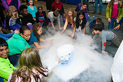 Girl Power 2015 attendees explored a dry ice experiment