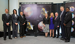 Members of the New Horizons team at the World Stamp Show