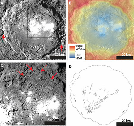 Images of Ceres' Occator crater