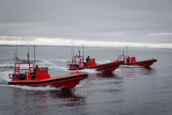 swarming unmanned surface vessels