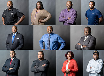 Eleven African American veterans working at APL