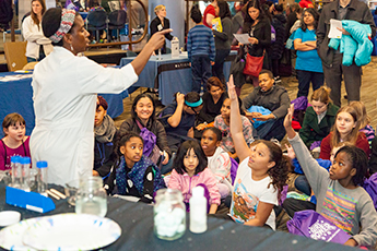 Girl Power 2017 attendees participated in an Eric Energy demonstration