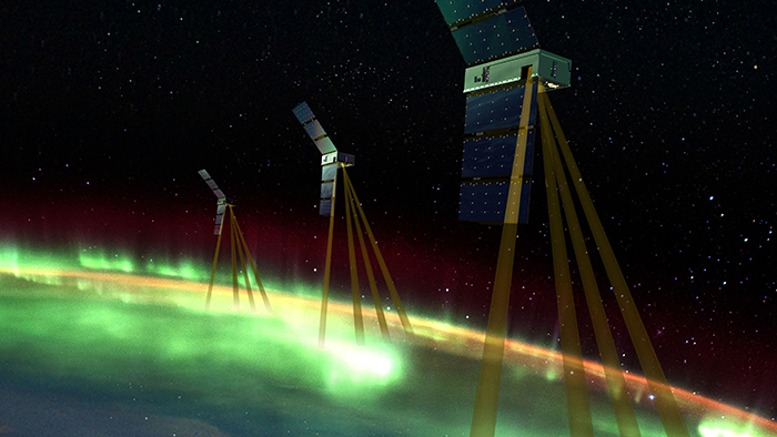 Image of SmallSats of the Johns Hopkins APL-led Electrojet Zeeman Imaging Explorer (EZIE) NASA mission