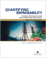 Cover of Quantifying Improbability: An Analysis of the Lloyd's of London Business Blackout Cyber Attack Scenario
